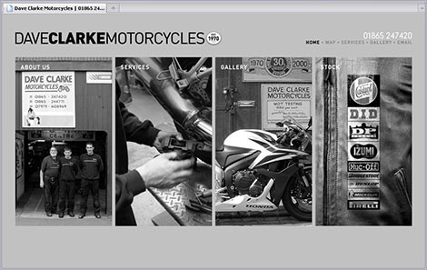 Dave Clarke Motorcycles webpage